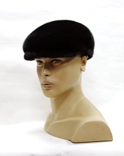 Stylish Men's Flat Cap Made Of Natural Mink Fur by FurHats&Caps