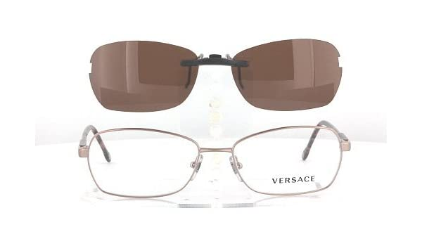 24abca80c1 Amazon.com  VERSACE 1192-54X16 POLARIZED CLIP-ON SUNGLASSES (Frame NOT  Included)  Health   Personal Care