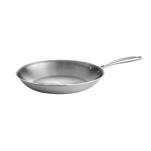 Tramontina 80116/007DS Gourmet Stainless Steel Induction-Ready Tri-Ply Clad Fry Pan, 12-inch, NSF-Certified, Made in Brazil Commercial Non Stick Everyday Pan