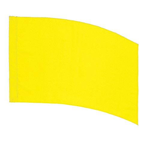 - DSI Color Guard Practice Flag (PCS) - Curved Rectangle - Yellow