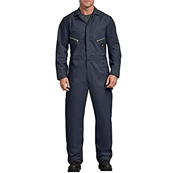 dickies Men's Long Sleeve Deluxe Coverall, Dark Navy, Large-Tall