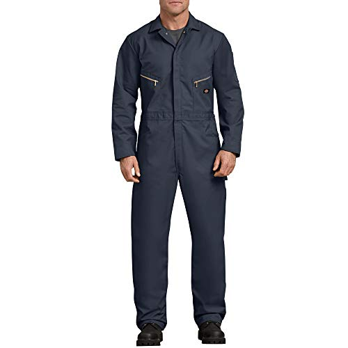 Dickies Men's Long Sleeve Deluxe Coverall, Dark Navy, 2X Large-Tall (Best Work Pants For Plumbers)