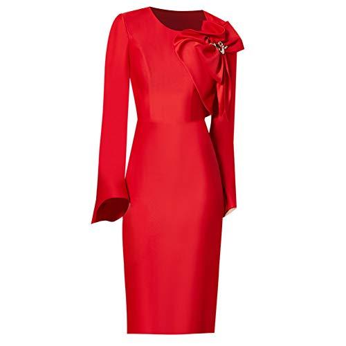 Hôte Porte Femme Robe Xl Soirée Mariée Cocktailrobe Arrière Bingqz Rouge De Nouveau D'hiver Dîner F6gdx0