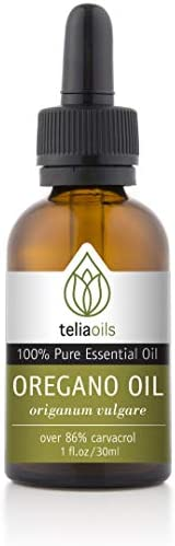 Teliaoils 100 Organic Oil Of Oregano – Super Strength over 86 Carvacrol – Pharmaceutical Grade Wild Oregano Oil from the mountains of Greece – Undiluted, Certified, Pure Oregano Essential Oil – 1 oz