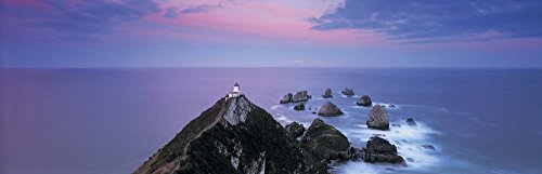 (High Angle View of a Lighthouse, Nugget Point, The Catlins, South Island New Zealand, New Zealand by Panoramic Images Art Print, 51 x 17 inches)