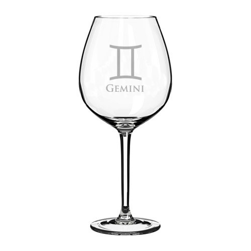Wine Glass Goblet Horoscope Zodiac Birth Sign
