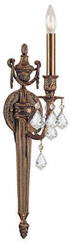 - Crystorama 751-MB-CL-S Crystal Accents One Light Sconces from Arlington collection in Brassfinish, 7.00 inches