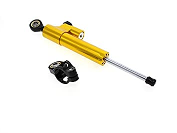 FXCNC Racing Motorcycle Steering Damper Mounting with Bracket Kit For Yamaha YZF R6 2006-2015 YZF R1 2009-2012 Golden