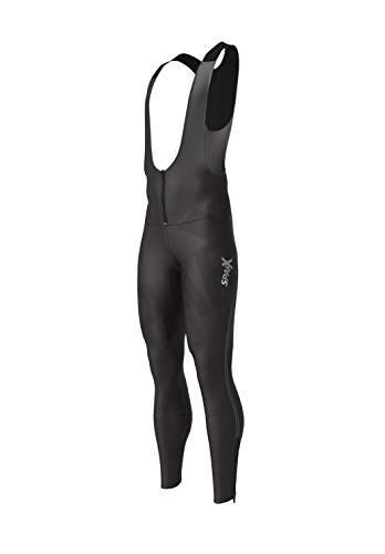 Sparx Men's Long Warm Soft Shell Cycling Thermal Bib Tights Non Padded (XL)