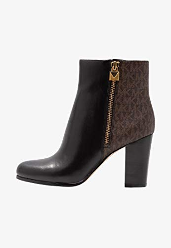 Michael Michael Kors Womens Margaret Bootie Leather, Black/Brown, Size ()