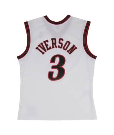 (Mitchell & Ness Allen Iverson Philadelphia 76ers Swingman Jersey White (Medium))