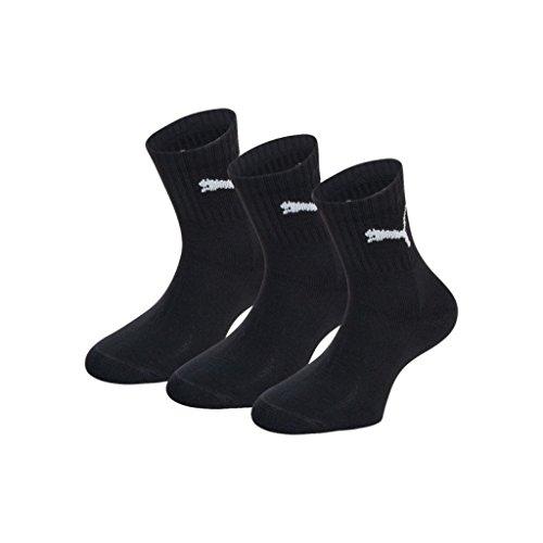 Puma 3 Pack Crew Short Socks - Black UK - Shop Puma Uk