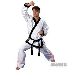 ProForce 14oz Heavy Weight Tang Soo Do Uniform - Black - Size 2.5