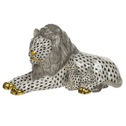 Herend Lion and the Lamb Black Fishnet