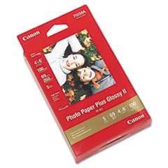 * Photo Paper Plus Glossy II, 4 x 6, 10.6 mil, White, 100 Sheets/Pack