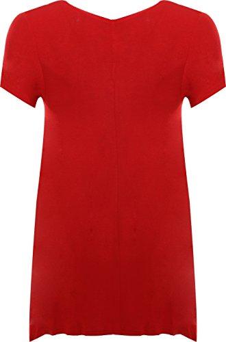Femmes avec ourlet WearAll croix Rouge Grandes 40 manches irrgulier clout Hauts dessin courtes 58 Tunique et du tailles wtgIqW7gO