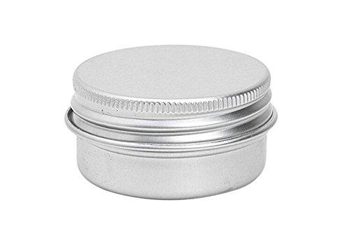 Screw Top Round Aluminium Tin Cosmetic Pot Jar Containers for Lip Balm Makeup Face Cream Eye Shadow Jar Pot Bottle Pack of 5pcs (20ml)