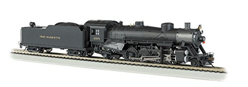 Bachmann Industries Trains Usra Light 2-8-2 Dcc Ready Pere Marquette #2378 with Long Tender Ho Scale Steam Locomotive