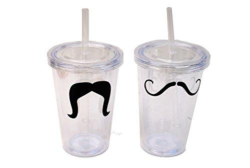 Mustache Reusable Cup Bundle - Two Items: 2