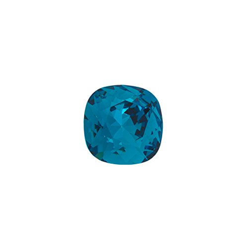 (Swarovski 4470 12mm Indicolite Cushion Cut Square Fancy Stone)