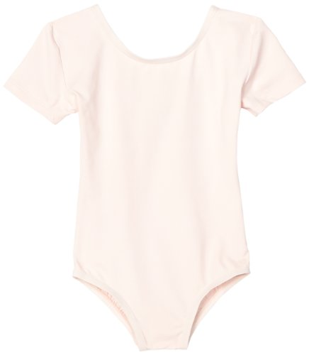 Danskin Big Girls' Short-Sleeve Leotard, Theatrical Pink, Medium