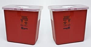 Kendall Sharps Container with Rotor Lid - 2 Gallon by KENDALL HEALTHCARE