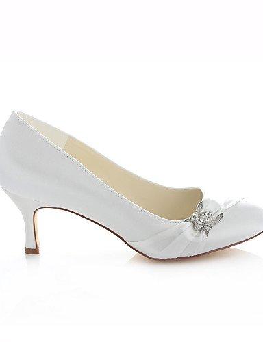 4in 4in y Mujer 2 Tacones 3 3 ivory Marfil GGX Vestido 2in Zapatos Noche Tacones Boda ivory Redonda 2 Punta de boda Fiesta 2in wTBTqOv