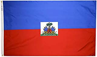 product image for Annin Flagmakers Model 193361 Haiti Flag Nylon SolarGuard NYL-Glo, 4x6 ft, 100% Made in USA to Official United Nations Design Specifications