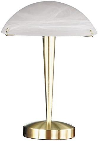 TRIO Tischleuchte-Touch me- Rostfarben Glas Amber E14 Höhe 25cm