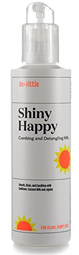 Shiny Happy Kids Hair Detangler Spray Leave in Conditioner without PEGs or Petrochemicals or Artificial Fragrance | Premium Kids Detangling Spray with Natural Plant Milks | Clean Beauty for Kids by do+little (Image #6)