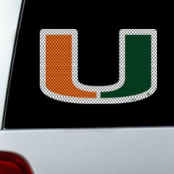 NCAA Miami Large Window Film, One Size, Multicolor
