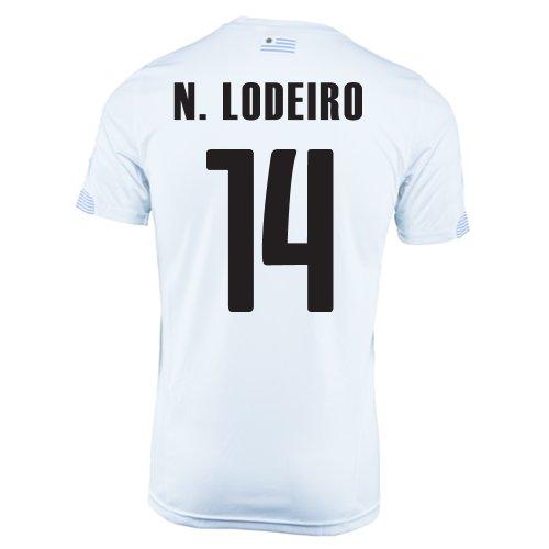 州エンターテインメント気楽なPuma N. Lodeiro #14 Uruguay Away Jersey World Cup 2014/サッカーユニフォーム ウルグアイ アウェイ用 ワールドカップ2014 背番号14 ニコラス?ロディロ