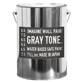 ペンキ 灰色 グレー 水性塗料 イマジンウォールペイント ペイントセット 4L グレートーン 【191】 B01N0UR7QU 4L+施工道具