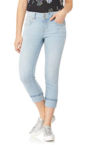 WallFlower Women's Juniors Insta Stretch Luscious Curvy Cuffed Crop Jeans in Kenya, 3 (Best Jeans For Curvy Juniors)