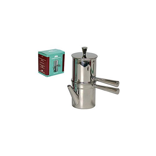 Ilsa Stainless Steel Neapolitan Coffee Maker with Spout, 6 Cup
