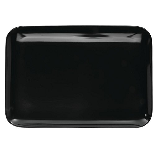 Display Melamine Tray - Serving Tray Display Tray Low Profile Black Melamine Plastic - 11 3/8 L x 8