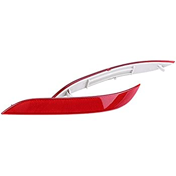 ,530xi fits 23300-62030 ,545i 06-07 ,530i 03-07 ,525xi Gofavorland Pair LH RH Rear Bumper Reflector Light for BMW 525i 06-07 03-07 04-06 ,550i 06-07