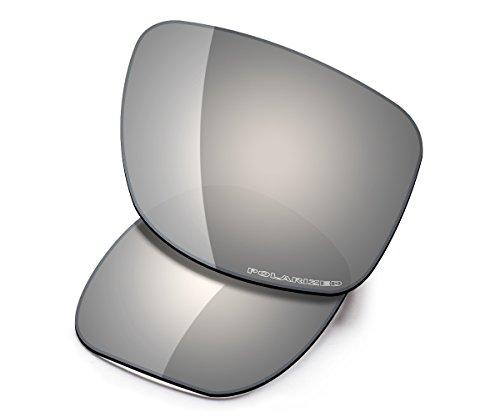Saucer Premium Replacement Lenses for Oakley Jupiter Squared OO9135 Sunglasses High Defense - Chrome Metal Polarized (Squared Replacement Oakley Lenses Jupiter)