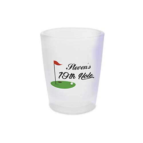 Ceramic Hole 19th - Personalized Custom Text Golf 19th Hole Sports Ceramic Shot Glass Cup