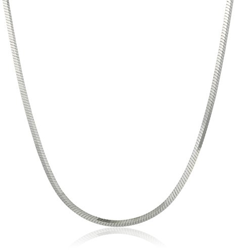 Sterling Silver 1.1mm Snake Chain Necklace, 24