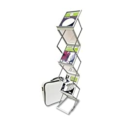 Deflect-o Collapsible Floor Stand with 6 Pockets, 11-1/2 by 14-1/2 by 60-Inch, Silver