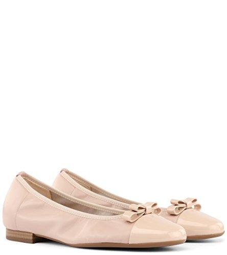 Peter Kaiser Women's Benita Closed Toe Ballet Flats, Black, 3 UK Rot (Powder Lack Samoa)