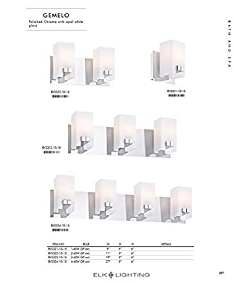 Alico Gemelo 4 Light Vanity Light in Chrome and White Opal Glass