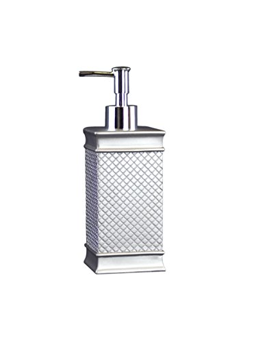 Ava - Style comes home - Lotion Pump / Soap Dispenser - Pewter (Polyresin) - Cubex (Pewter Bathroom Dispenser Soap)