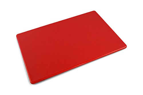 Commercial Plastic Cutting Board, NSF - 18 x 12 x 0.5 inch (Red)