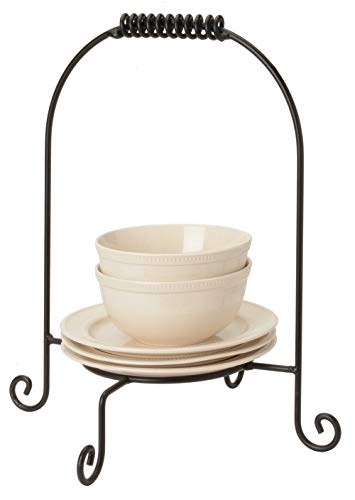 (Wrought Iron Buffet Plate Stacker - Hand Made By Amish Of Lancaster County PA.)