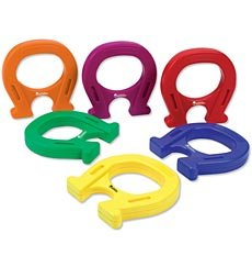 Learning Resources Horseshoe-Shaped Mighty Magnets, Set of 6