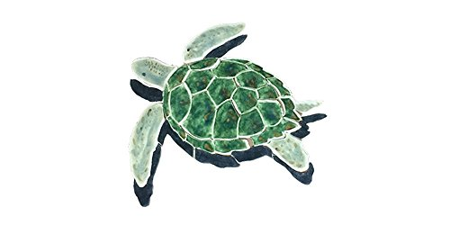 - Green Sea Turtle Swimming Pool Mosaic (Small)