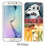 mgk lace up White Samsung Galaxy S6 Edge Screen Cover Case Luxurious and Fashion Design