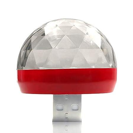Modaka Magique Disco Lumi/ère LED Mini Portable USB Cristal Magique Boule Effet Color/é Sonorisation Lampe Stade Home Party D/écoration